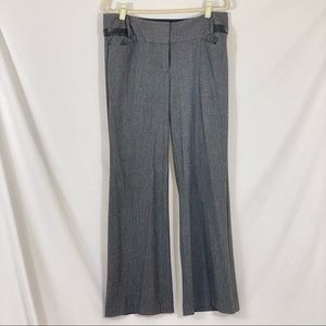 Express Editor Gray Pants Faux Leather Detail